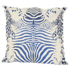 Add a pop of style to your favorite chaise or arm chair with this eye-catching linen pillow, showcasing an animal-print motif for exotic appeal....