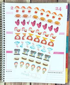 40 Baked with Love Stickers – Perfect for Erin Condren, Plum Paper Planner, Inkwell Press, Filofax, Scrapbooking & More
