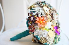 Beautiful Brooch Bouquets for 2012 Brides! | OneWed