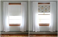 Fabric Covered Roller Shades with Handmade Tassel