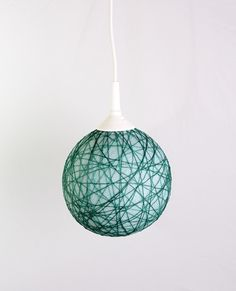 hanging Mini lamp, Contemporary design interior accent Green Turquoise by FiligreeCreations on Etsy