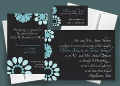 Daisy  Printable Wedding Invitation suite by nraevsky on Etsy