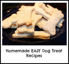 EASY Dog Treat Recipe! for dogs with allergies I would use peanut butter instead of the chicken or beat