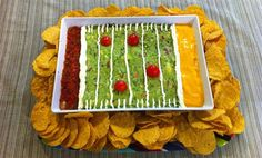 Make an awesome edible stadium for your Super Bowl spread