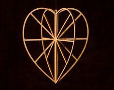 Small Heart  Birch Crystal by ValonaDesign on Etsy, €14.00