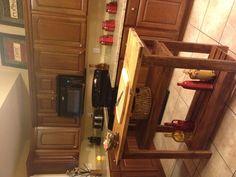 Rustic kitchen island my boyfriend built for me.