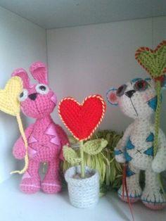 teddy &bunny Crochet Teddy, Bunny, Cute Bunny, Rabbit, Rabbits, Baby Bunnies