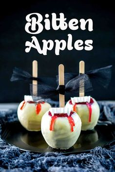 Halloween Bitten Apples