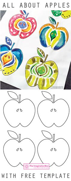 The ImaginationBox free templates: how many patterns can you create inside these apples? See my weblink for pears, pineapples, lemons and more fruit inspired creative free templates