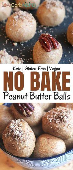 No bake peanut butter balls. Keto, gluten free, and vegan friendly #keto #glutenfree #vegan #lowcarbalpha