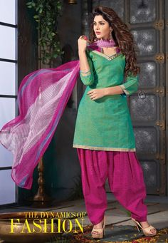 Pista Green Patiala Salwar Dress Material-16005