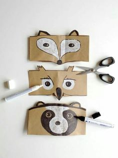 Animal paper bag masks
