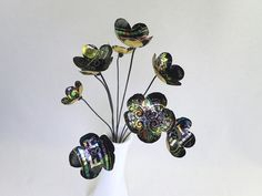 Black and Iridescent  Bouquet  of Tin Forever by thedustyraven
