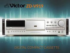 Digital Compact Cassette. Victor (JVC) ZD-V919 www.1001hifi.com Audio Design, Tape Recorder, Hifi Audio, Digital Audio, Loudspeaker, Audio Equipment, Audiophile, Theater, Sony