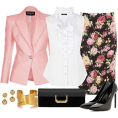 Pink Blazer, created by angela-windsor on Polyvore