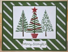 Jennie M's Stampin Spot: Another Festival of Trees Card