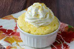 Sugar-Free Lemon Mug Cake
