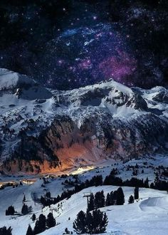 Swiss alps at night, Switzerland : pics