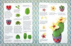 Crea Modular Origami, 3d Origami, Origami Paper, Origami Diagrams, Diy And Crafts, Paper Crafts, 3d Paper, Free Pattern, Cactus