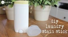 Homemade Laundry Stain Stick