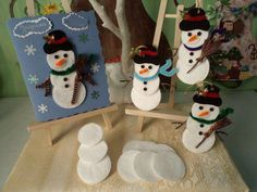 Hobbies And Crafts, Diy And Crafts, Paper Crafts, Handmade Home, Winter Christmas, Christmas Crafts, Diy Inspiration, Paper Cupcake, Cotton Pads