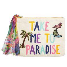 Stoff-Clutch 'Take Me To Paradise' - nicolemohrmann.com