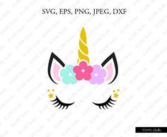 unicorn face free svg cutting file for silhouette cricut cutting