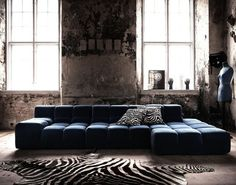 B+B Italia. Tufty Time Sofa. One non-leather option. Looks comfortable. Too informal and visual heavy, or just right?