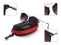 LOOX Sonnen-Brille Herren Damen orange sportlich klassisch  Unisex Etui