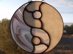 Stained glass YinYang of the feminie by gregsgiftsofglass on Etsy, $65.00