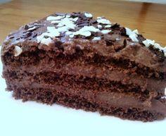 Receta de Tarta Laura con bizcocho de chocolate y natillas caseras