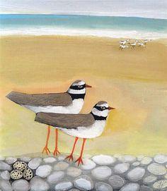 Egg Watcher  by Angela Harding  Popular British artist, painter and printmaker, works from her studio in Rutland.