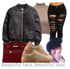 """""""."""" by karaa728 ❤ liked on Polyvore featuring Hermès and Puma"""