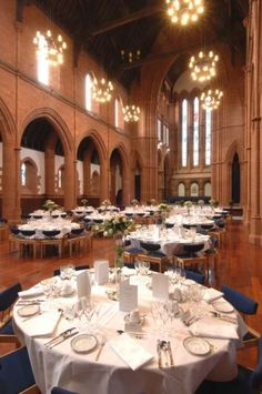 Reception in the Great Hall - The Barony - The University of Strathclyde wedding venue in Glasgow, Glasgow; like harry potter!