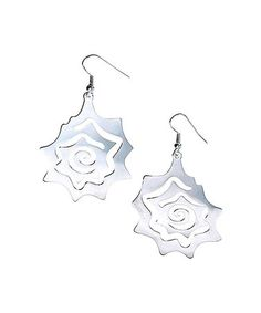 Look at this #zulilyfind! Sterling Silver Floral Drop Earrings #zulilyfinds