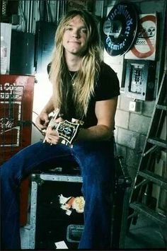 The young Zakk Wylde and his Les Paul Custom