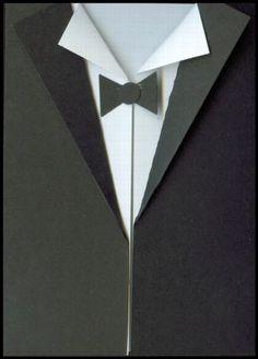 tuxedo template card making