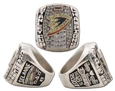 NHL Stanley Cup: Ranking the 15 Most Insane Championship Rings in Hockey History Ice Hockey Teams, Hockey Stuff, Stanley Cup Rings, Super Bowl Rings, Championship Rings, Anaheim Ducks, Nhl, Rings For Men, Cup Art