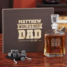 Dads deserve the absolute best. After tossing the ball with you in the backyard, or working all day long, a dram of whiskey is the best way to unwind.