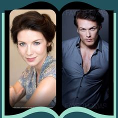 Claire & Jamie cast for STARZ series of Outlander by Diana Gabaldon.