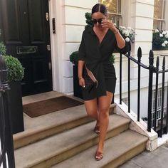 Profession Turn-down Collar Dress – Beauty&BS Black Women Fashion, Curvy Fashion, Urban Fashion, Womens Fashion, Fashion Top, Fashion 2017, Fashion Online, Mode Outfits, Chic Outfits