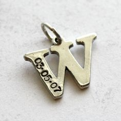 Wouldn't this be a sweet little gift for a bride (new last initial + anniversary date) or new mother (baby's first initial + birth date)?!?