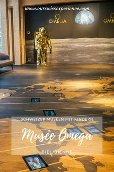 Visiting the Omega Museum in Biel - Our Swiss experience Omega, Swatch, History Of Time, Revolving Door, Cinema Room, In Ancient Times, Modern Buildings, Train Station, Public Transport