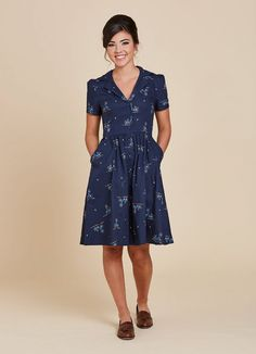 Pepper Bicycle Print Shirt Dress