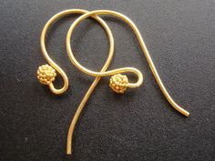 5 % off, 5 pairs - Bali Artisans 24k Vermeil Fancy French Earwire with cluster beads on Etsy, $14.20