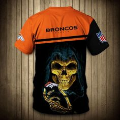 Denver Broncos T-Shirt 3D skull cheap gift for fans size S-5XL – Mike's sport fan