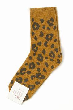 Tabio Leopard Print Socks