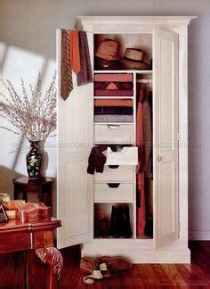 #2734 Wardrobe Plans - Furniture Plans