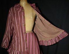 zwangerschapsjurk open detail - Mid 1860's Maternity Dress - open front detail