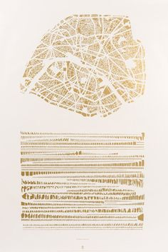 armelle caron - paris rangé on imgfave Maps Design, Design Art, Logo Design, Graphic Design, Plan Paris, Map Diagram, Architecture Mapping, Paris Map, Science Art
